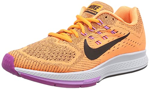 Nike Air Zoom Structure 18 - Zapatillas para Mujer, Color Naranja (Bright Citrus/Black/Fuchsia Flash), Talla 36: Amazon.es: Zapatos y complementos