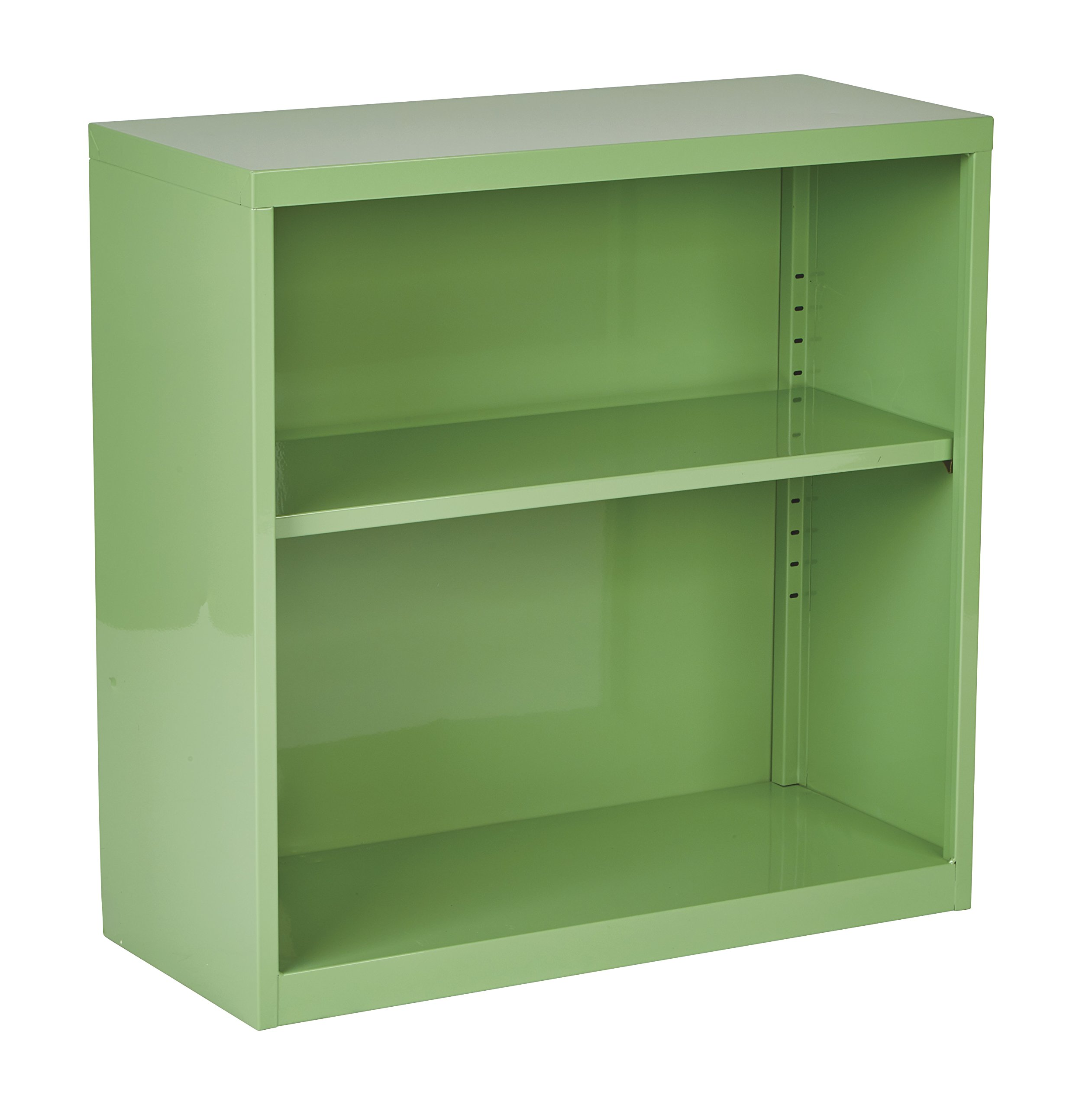 OSP Designs Metal Bookcase, Green