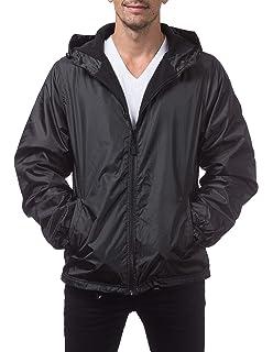d87726579 Renegade Men's Water Resistant Polar Fleece Lined Hooded Rain Jacket ...
