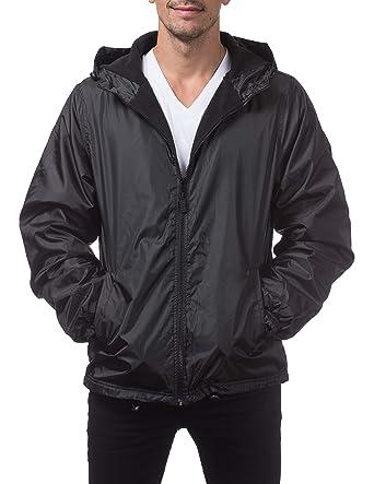 73aa73982d34 Pro Club Fleece Lined Windbreaker Jacket at Amazon Men s Clothing store