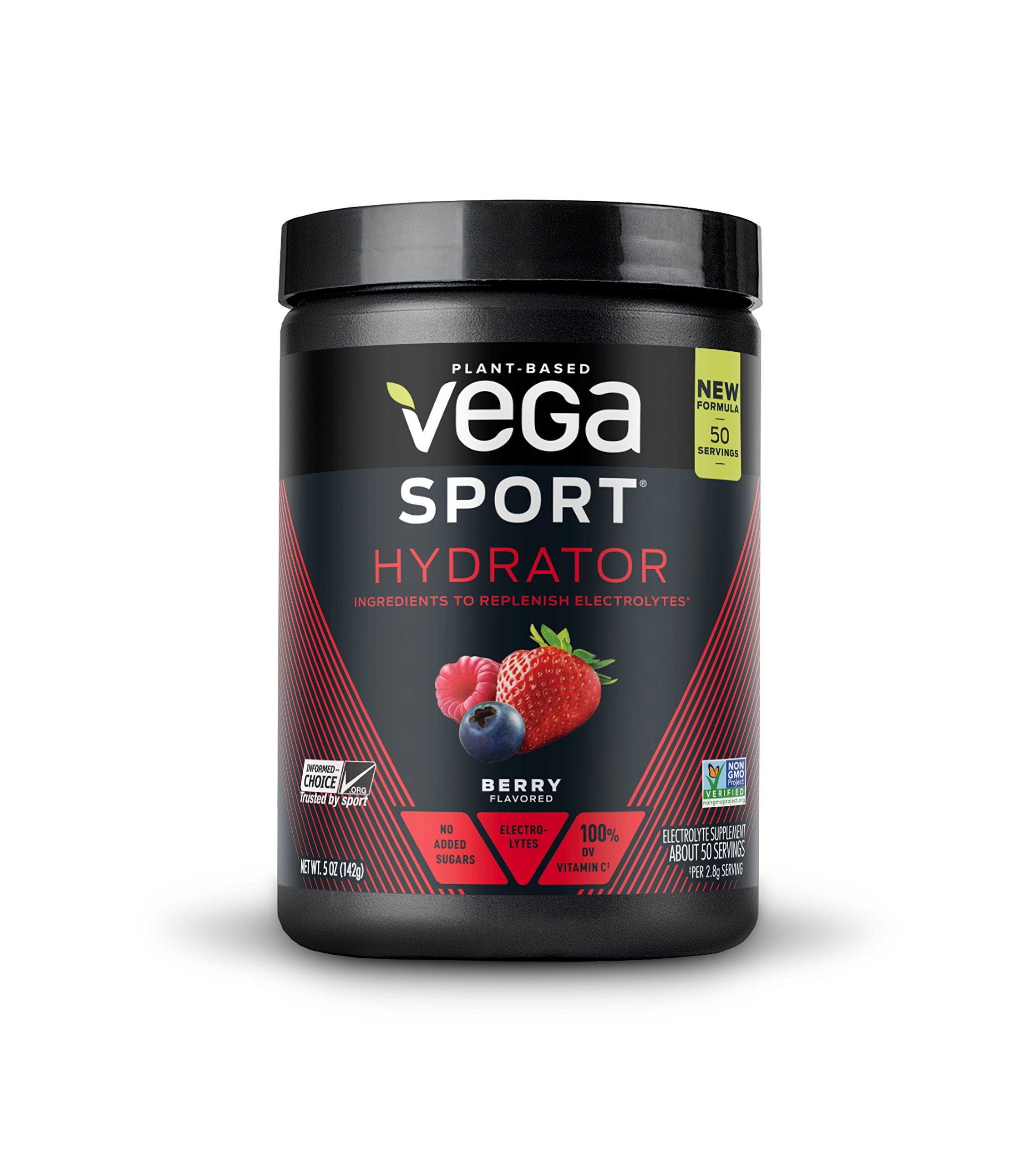 New Vega Sport Hydrator Berry (50 Servings, 5.0 oz Tub) - Electrolyte Powder