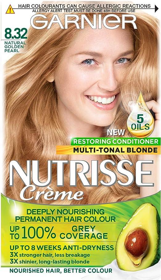 Garnier Nutrisse 8.32 - Tinte para el cabello permanente, Gold ...