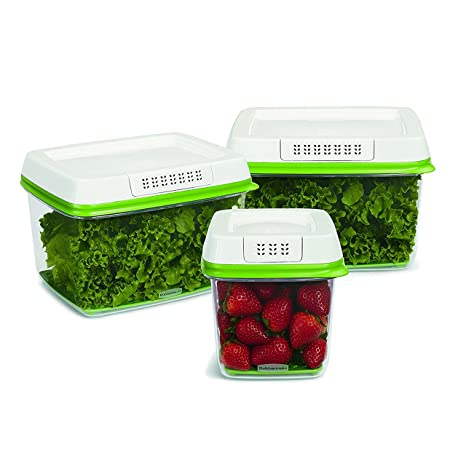 Vegetable Saver Containers Amazon rubbermaid freshworks produce saver food storage rubbermaid freshworks produce saver food storage containers set of 3 workwithnaturefo