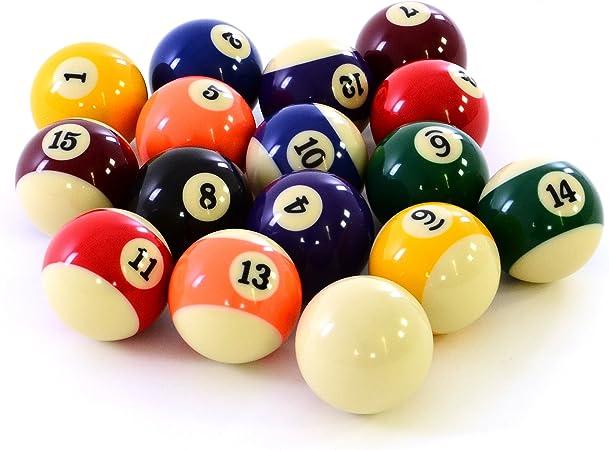 Nexos Juego de Bolas de Billar, números de y Taco Ball 57,2 mm: Amazon.es: Jardín