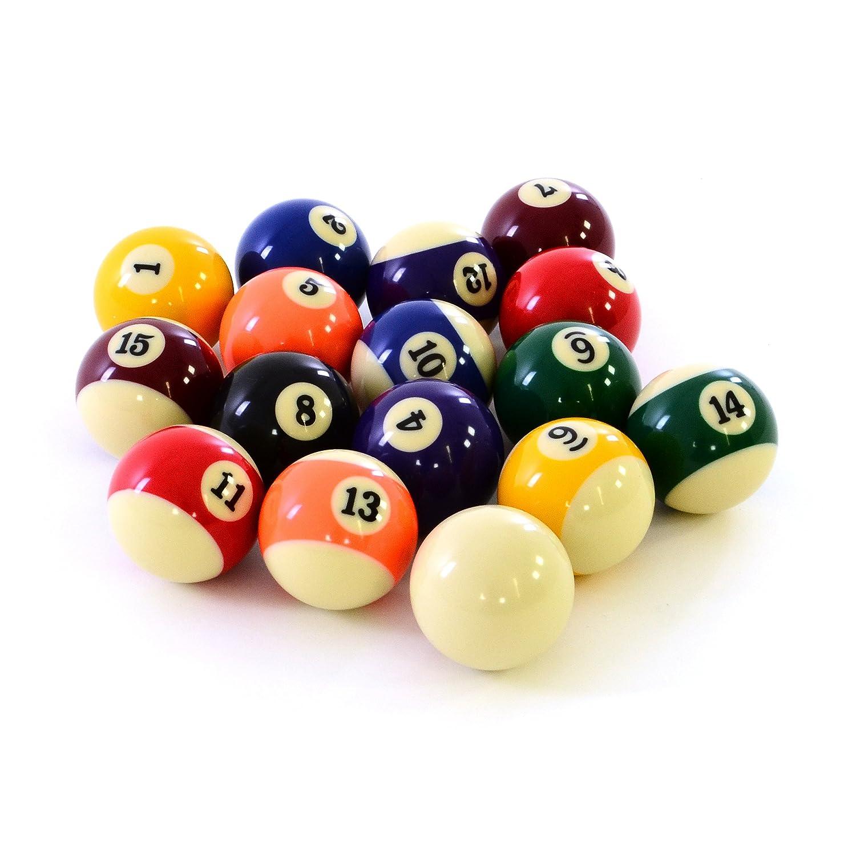 Nexos Satz Billardkugeln, Nummern- u. Queueball 57,2 mm SM990136 Billardtisch Billardzubehör Snooker