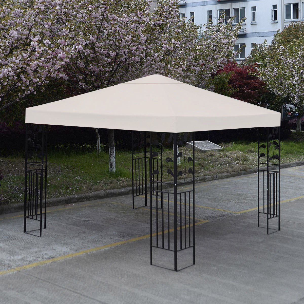 New 10' X 10' Gazebo Top Cover Patio Canopy Replacement 1-Tier Beige