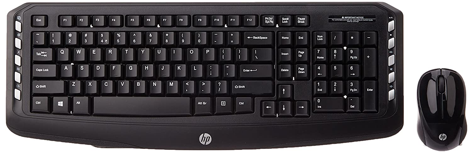 HP Wireless Classic Desktop Keyboard and Mouse Black