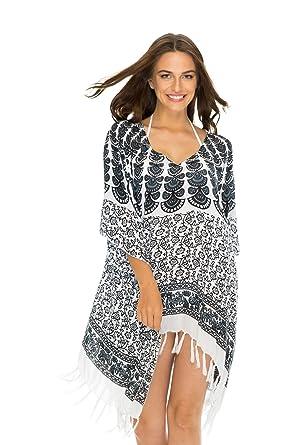 88eb465691 Back From Bali Womens Swimsuit Cover Up Bathing Suit Bikini Swimwear Cover  Boho Batik Beach Tunic