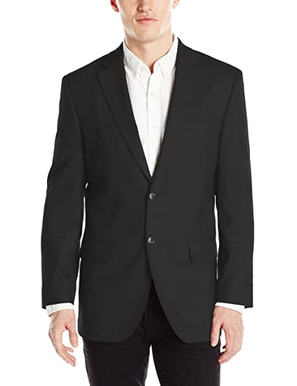 Haggar Mens J.M Black J.M 46 Regular Premium Performance Stretch Stria 2-Button Suit Separate Coat