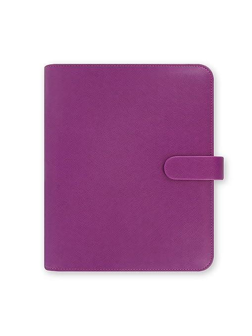 Amazon.com: Filofax piel Saffiano A5 Raspberry organizador ...