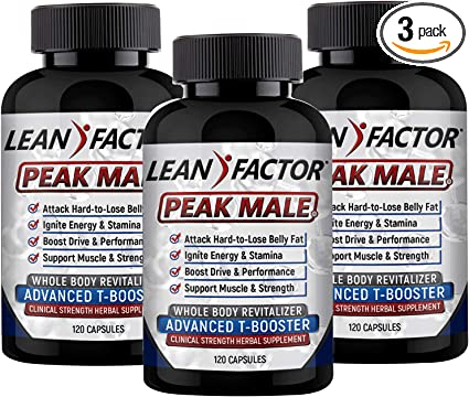 Amazon Com Peak Male The Ultimate Men S Health Supplement Raises T Levels Builds Muscle Strength Boosts Energy Reduces Stress Powerful Adaptogenic Herb Vitamin Mineral Formula 3 Pack