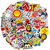Brand Stickers, 100Pcs Cool Stickers Waterproof Vinyl Stickers for Water Bottles Skateboard Stickers for Teens Laptop…