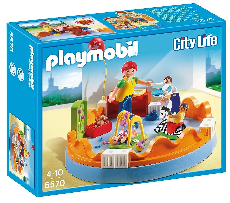 Playmobil 5570 jeu de construction espace crèche avec bébés