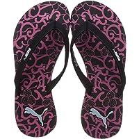 Puma Women's Ribbons V3 Idp Black-Beetroot Purpl Outdoor Sandals