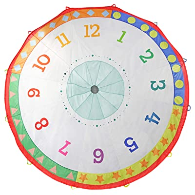 Pacific Play Tents 18420 Tick Tock Clock 12 Foot Kids Parachute for indoor / Outdoor Fun: Toys & Games
