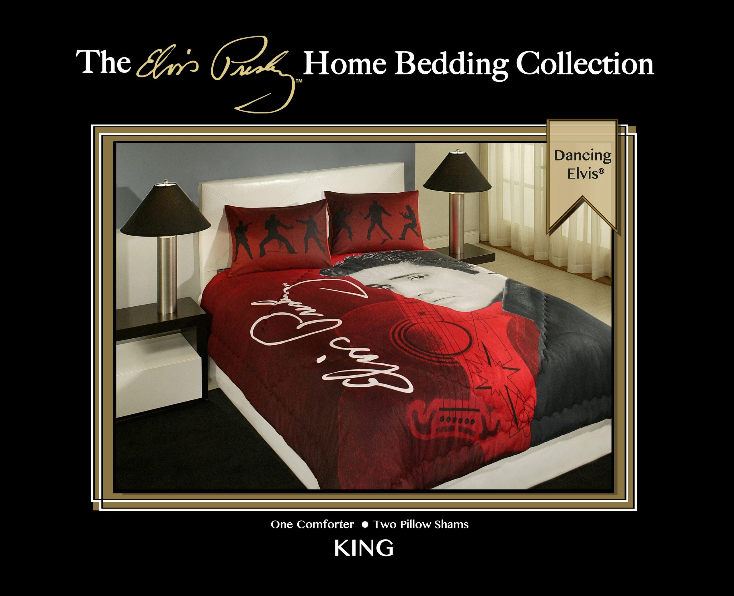 ''Dancing Elvis'' 3 Piece King Size Bedding Set by Elvis Presley Home Bedding Colection (Image #4)