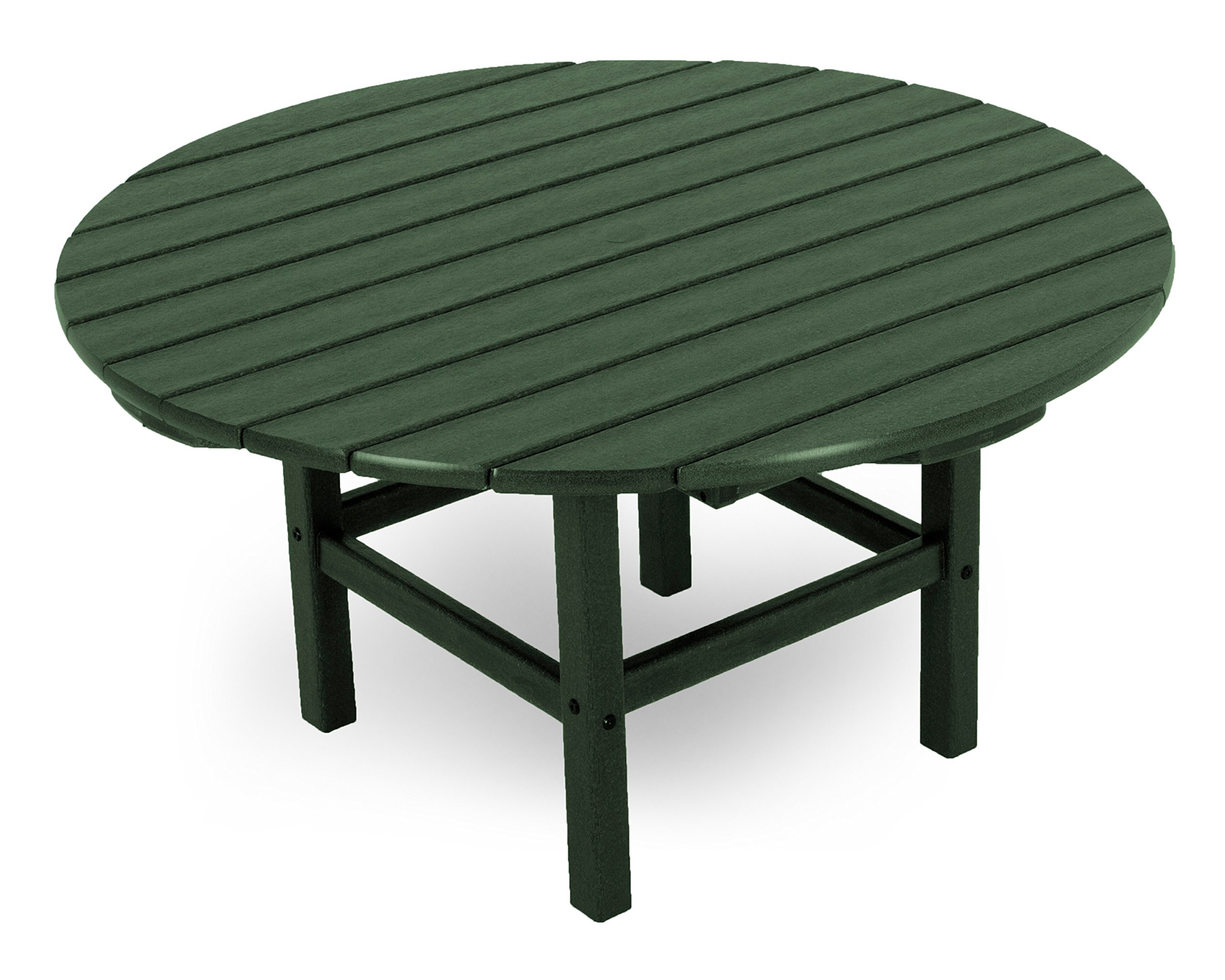 POLYWOOD RCT38GR Round 38'' Conversation Table, Green