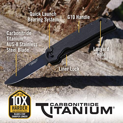 Camillus CUDA Mini, 6.75-inch Folding Knife Black