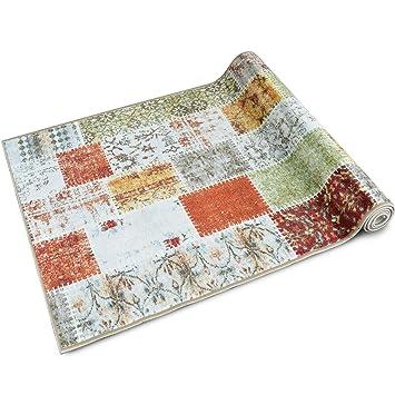 Teppich Läufer Küche teppichläufer contra patchwork muster im vintage look viele