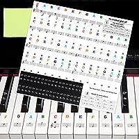 Matogle Pegatinas de Colores para Teclas de Piano