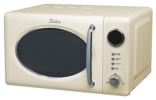 Salco SRM-20.6G (Diseño Retro, Microondas Combinado, 20 L, 700 W, Incl, función Grill, Beige), 20 litros