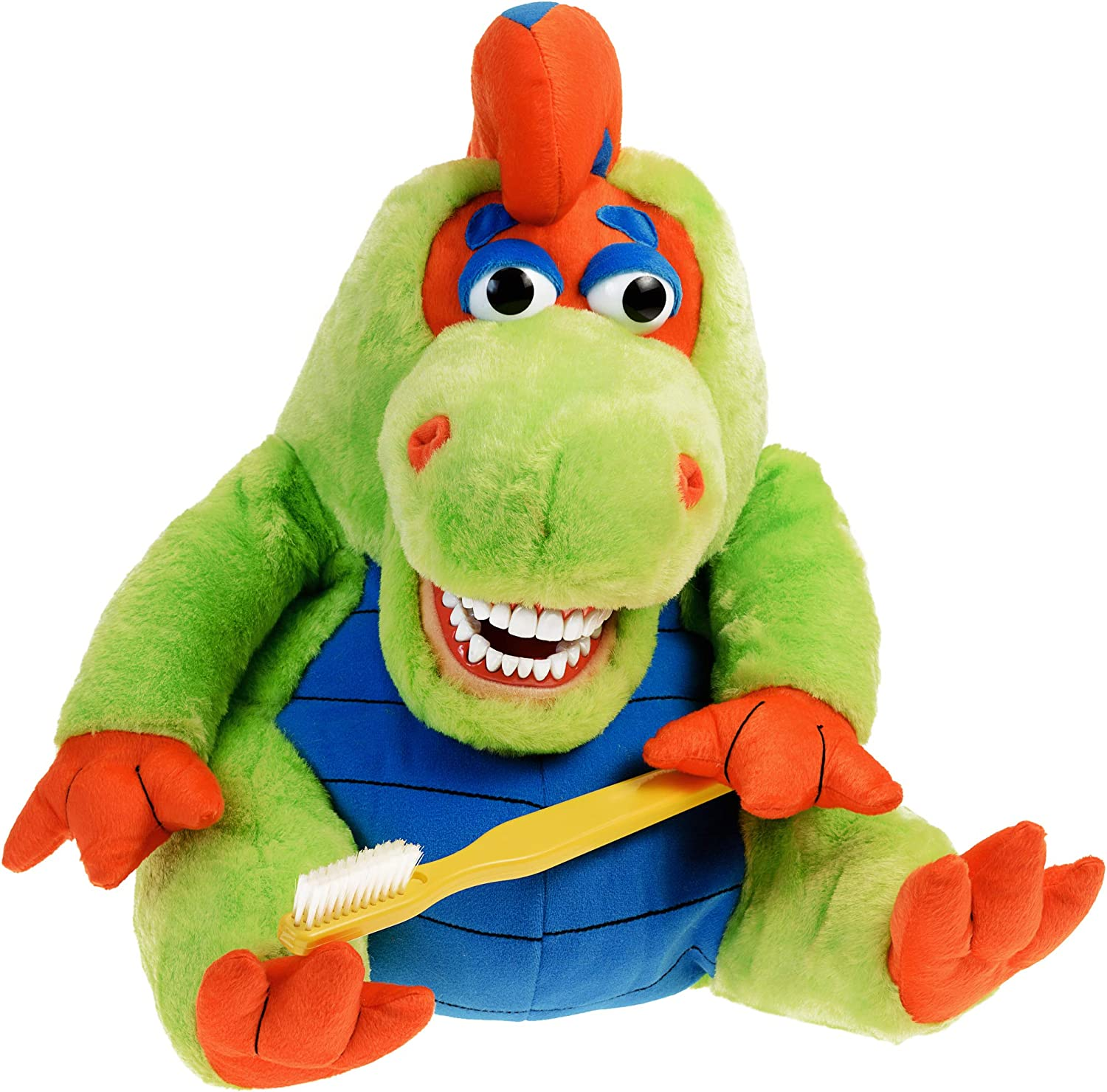 StarSmilez Kids Tooth Brushing Buddy Farley Flossisauras - Plush Dental Education Helper Fully flossible - Teach Children to Care for Mouth and Teeth