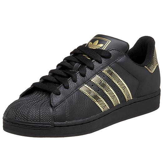 adidas Originals Men\u0027s Superstar II Sneaker,Black/Black/Gold,5.5 M