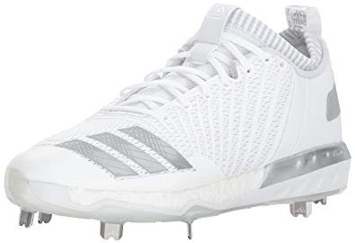 a929c28f3af adidas Men s Freak X Carbon Mid Baseball Shoe White Metallic Silver Light  Grey 5.5