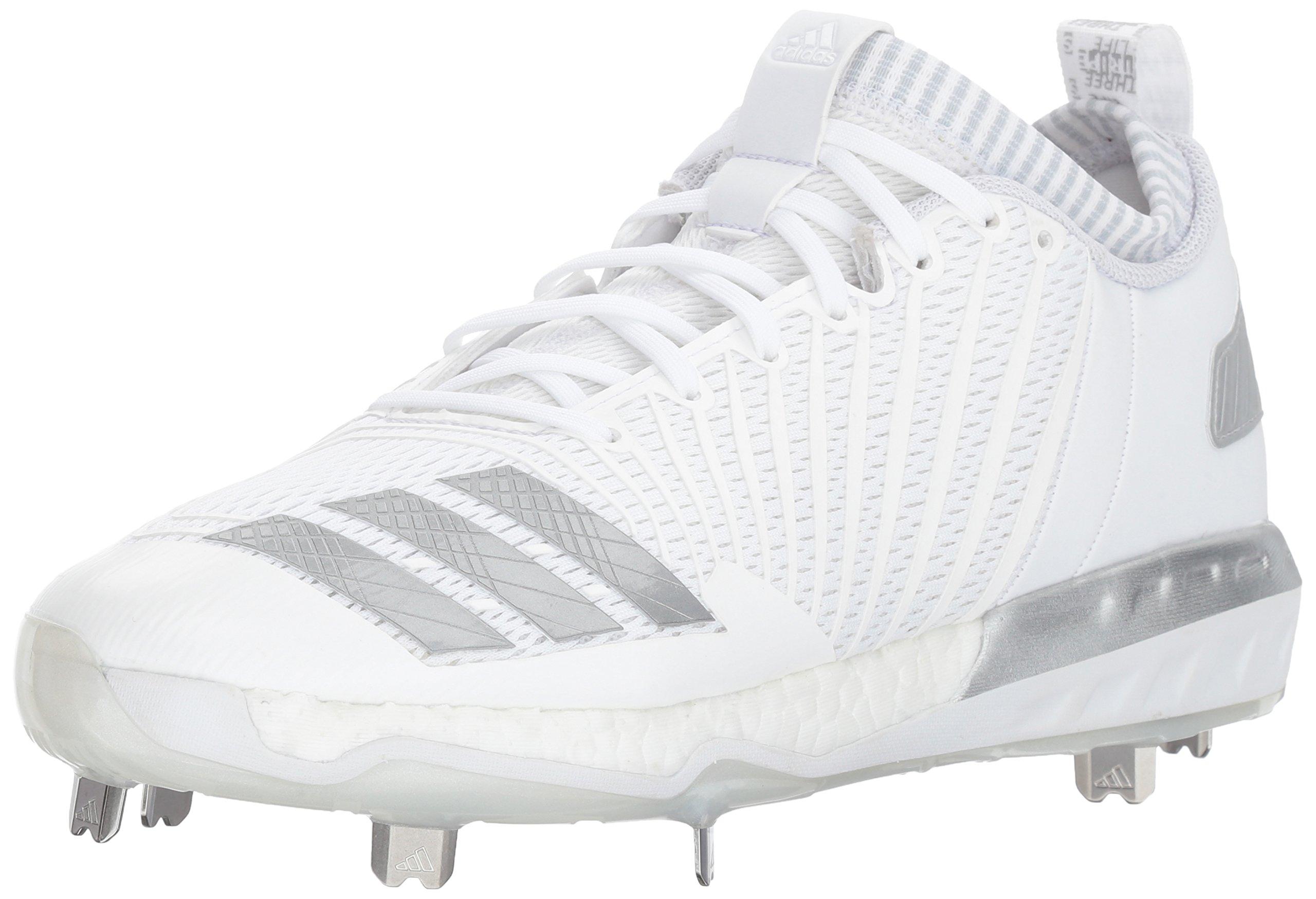 info for a9e0b 6a7ee Galleon - Adidas Men s Freak X Carbon Mid Baseball Shoe White Metallic  Silver Light Grey 12 Medium US