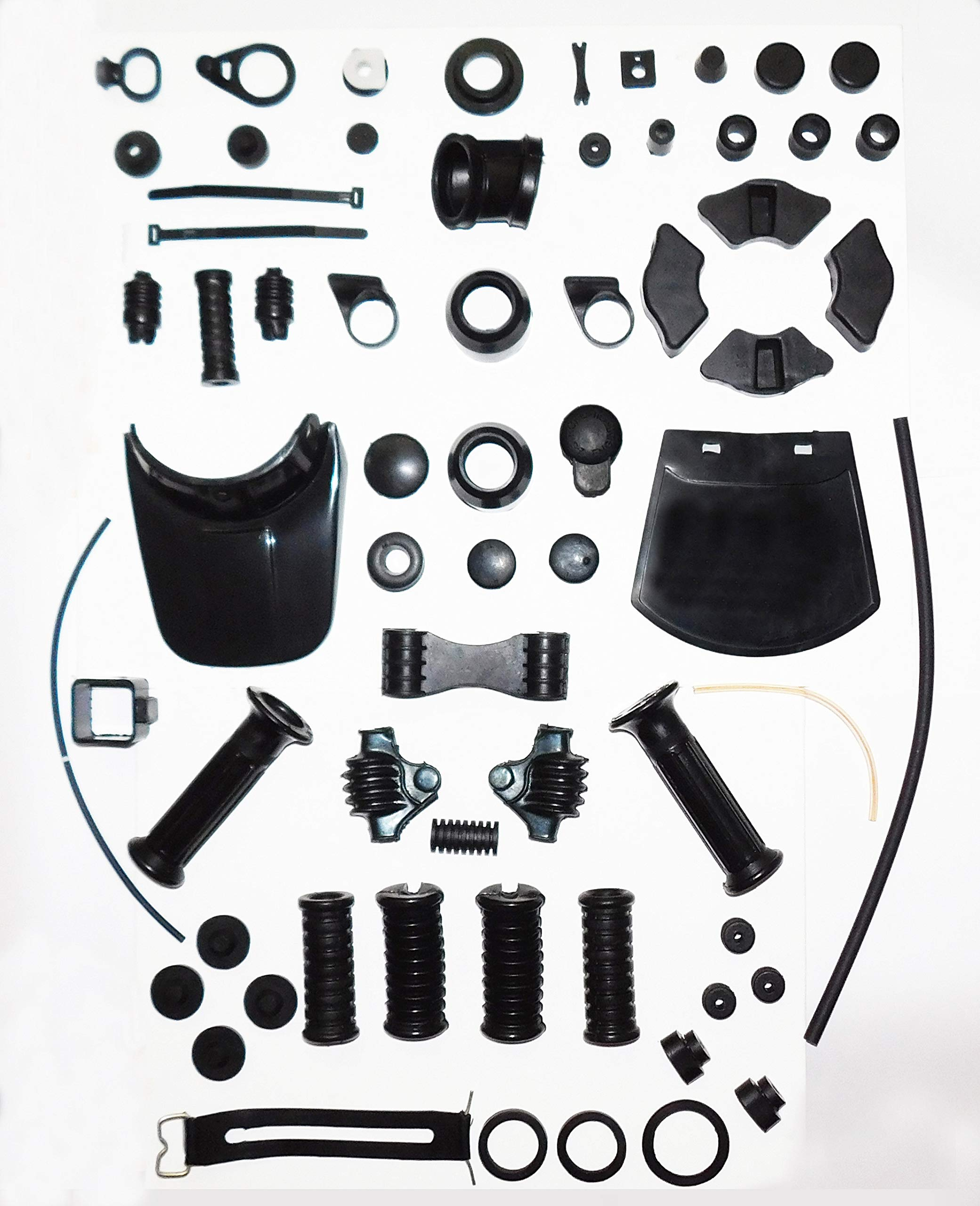 YAMAHA RX100 RS100 RX125 FULL RUBBER GROMMET KIT - HUB RUBBER MUD FLAP GRIP FOOTREST COVERS