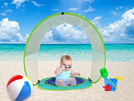 Baby Beach Tent Pop Up Sun Shade Pool UV Protection Shelter  sc 1 st  Amazon.com : baby shade tent uv protection - memphite.com
