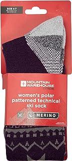Mountain Warehouse Polar Technical Gemusterte Damen-Skisocken, Winter Winter Violett 37-40 025607042002