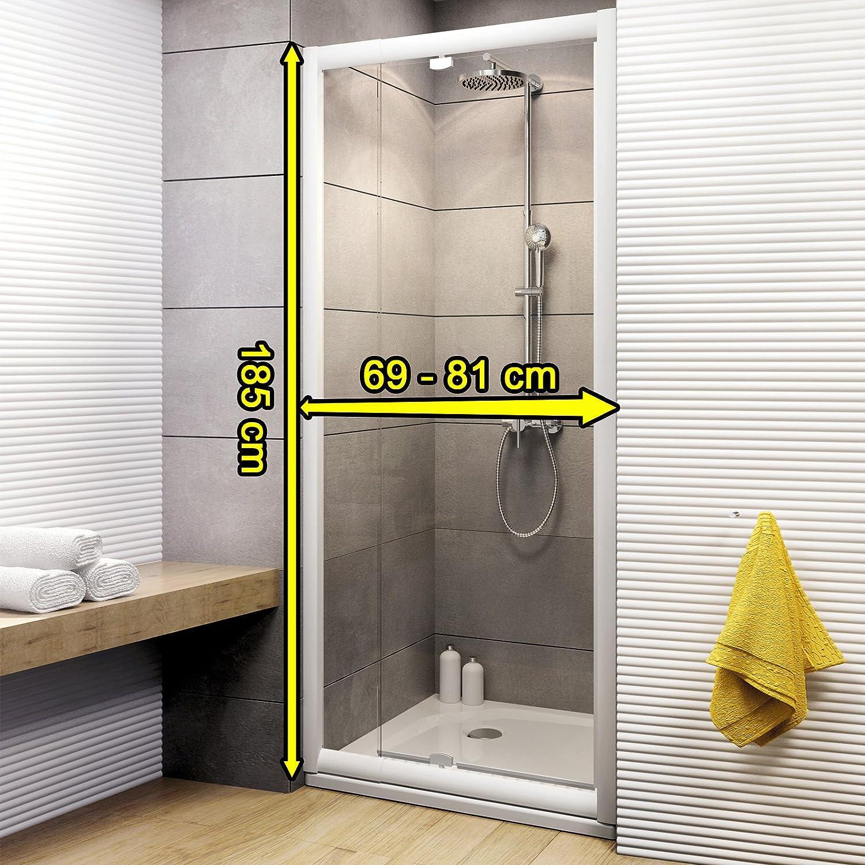 Schulte 4061164998684 Vita para puerta de ducha en técnicos, color blanco, 69 – 81 x 185 cm: Amazon.es: Bricolaje y herramientas