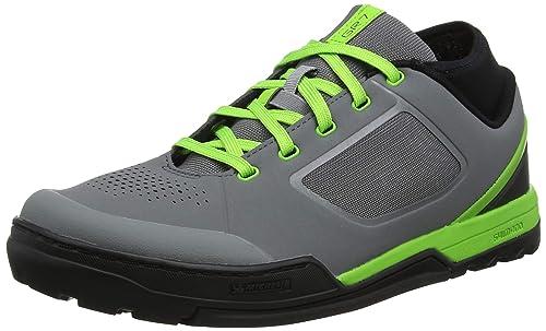 SHIMANO - Zapatillas de Ciclismo para Hombre Gris Verde 41 EU: Amazon.es: Zapatos y complementos