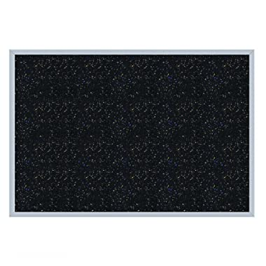 Ghent 2   x 3   Aluminum Frame Recycled Rubber Bulletin Board, Confetti, Made in the USA