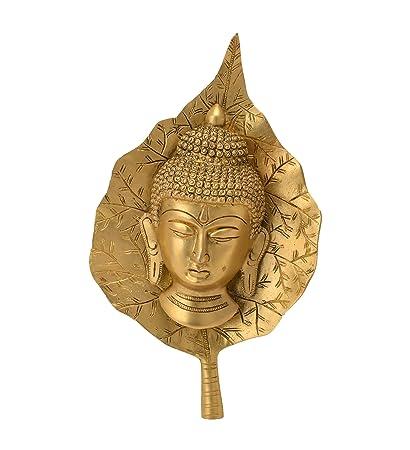 Amazon Com Bharat Haat Decorative Hanging Buddha Face In Leaf