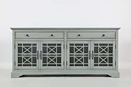 Jofran 375-9, Craftsman, 70 Media Unit, 70 W X 19 D X 32 H, Earl Grey Finish, Set of 1