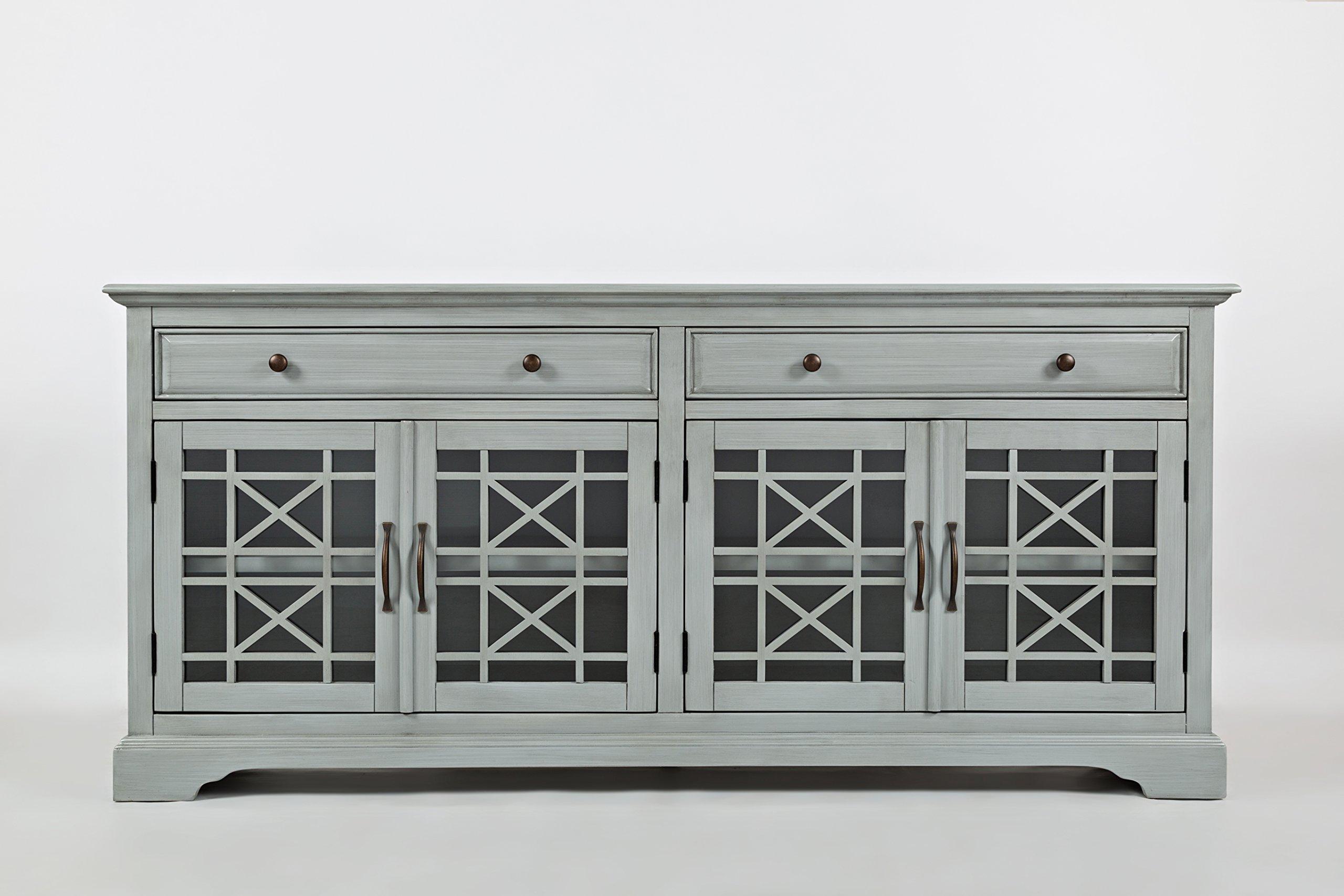 Jofran: 375-9, Craftsman, 70'' Media Unit, 70''W X 19''D X 32''H, Earl Grey Finish, (Set of 1)