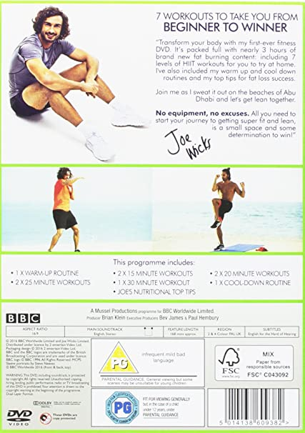 Joe Wicks The Body Coach Workout [DVD]: Amazon co uk: Joe