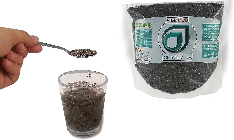 Semillas de Chía Naturales - 1 kg - Alta Calidad - Fuente Rica de Omega-3, Fibra y Proteínas - Completamente Natural, Sin Toxinas - Adecuado para Veganos.: Amazon.es: Alimentación y bebidas
