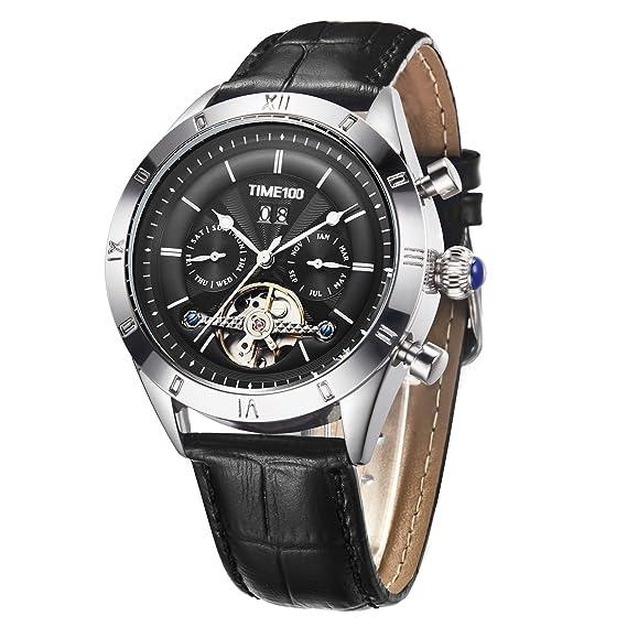 Time100 2018 reloj hombre pulsera Reloj mecánico automático resistente al agua 5 Bar (20)