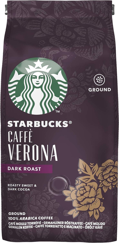 Starbucks Caffe Verona Cafe Molido De Tostado Intenso 6 X Bolsa De 200g Amazon Es Alimentacion Y Bebidas
