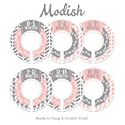 Modish Labels Baby Nursery Closet Dividers, Closet Organizers, Nursery Decor, Baby Girl, Woodland, Arrow, Tribal, Pink, Grey