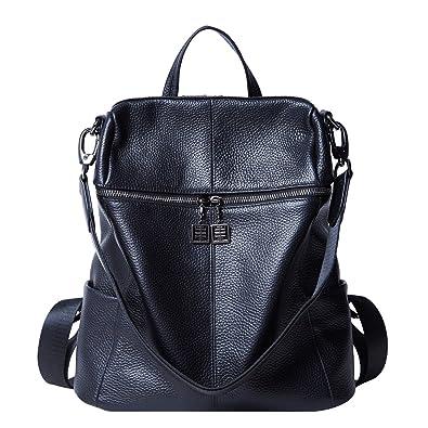 6acafaf6db89 BOYATU Ladies Leather Backpack Women Fashion Daypacks Travel School Bag  Rucksack  Amazon.co.uk  Shoes   Bags