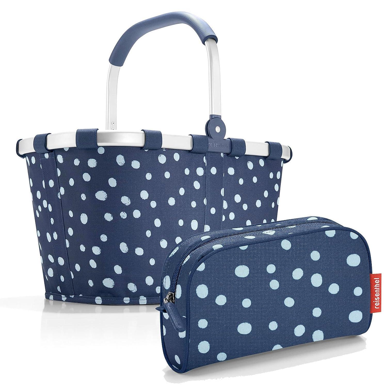 Reisenthel Exklusiv-Set: carrybag PLUS GRATIS makeupcase (spots navy - spots navy)