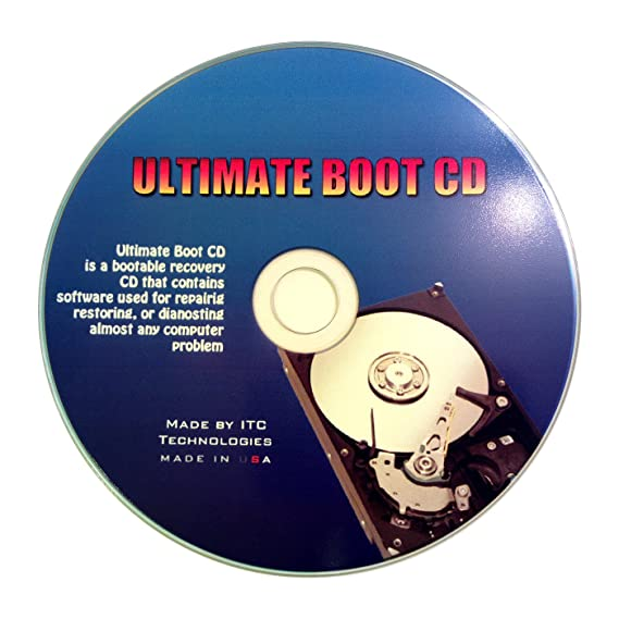Ultimate Boot Cd / Disc Recovery Repair DOS Windows 7 Xp Vista 95 98 - NEW  2013 Version [CD-ROM] Windows 32 BIT