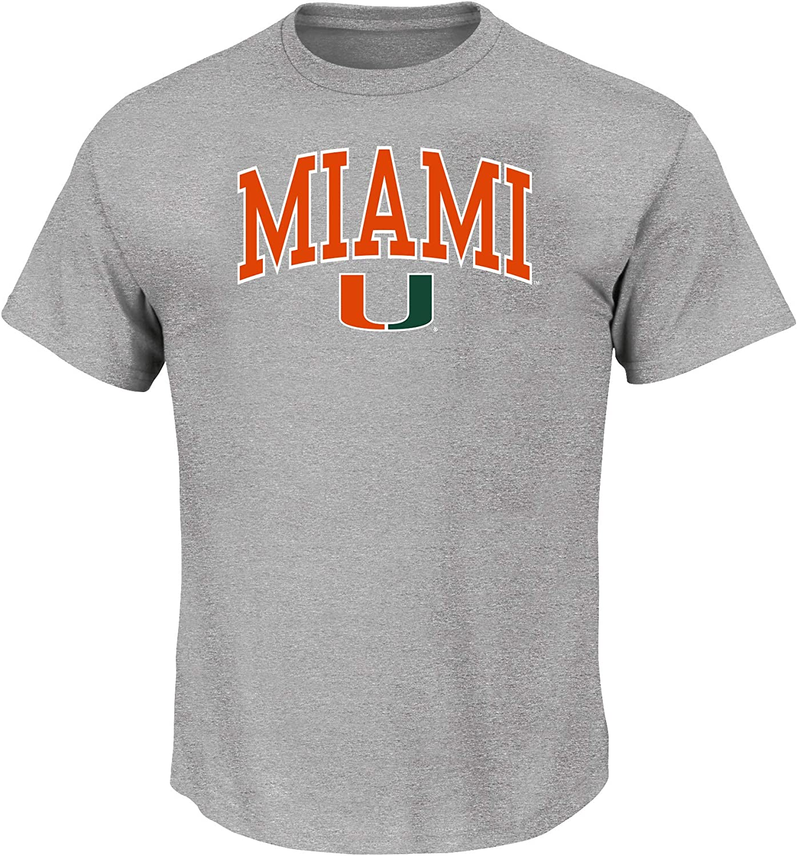 Heather Grey Arch NCAA Mens Big and Tall Short Sleeve Cotton Tee Shirt