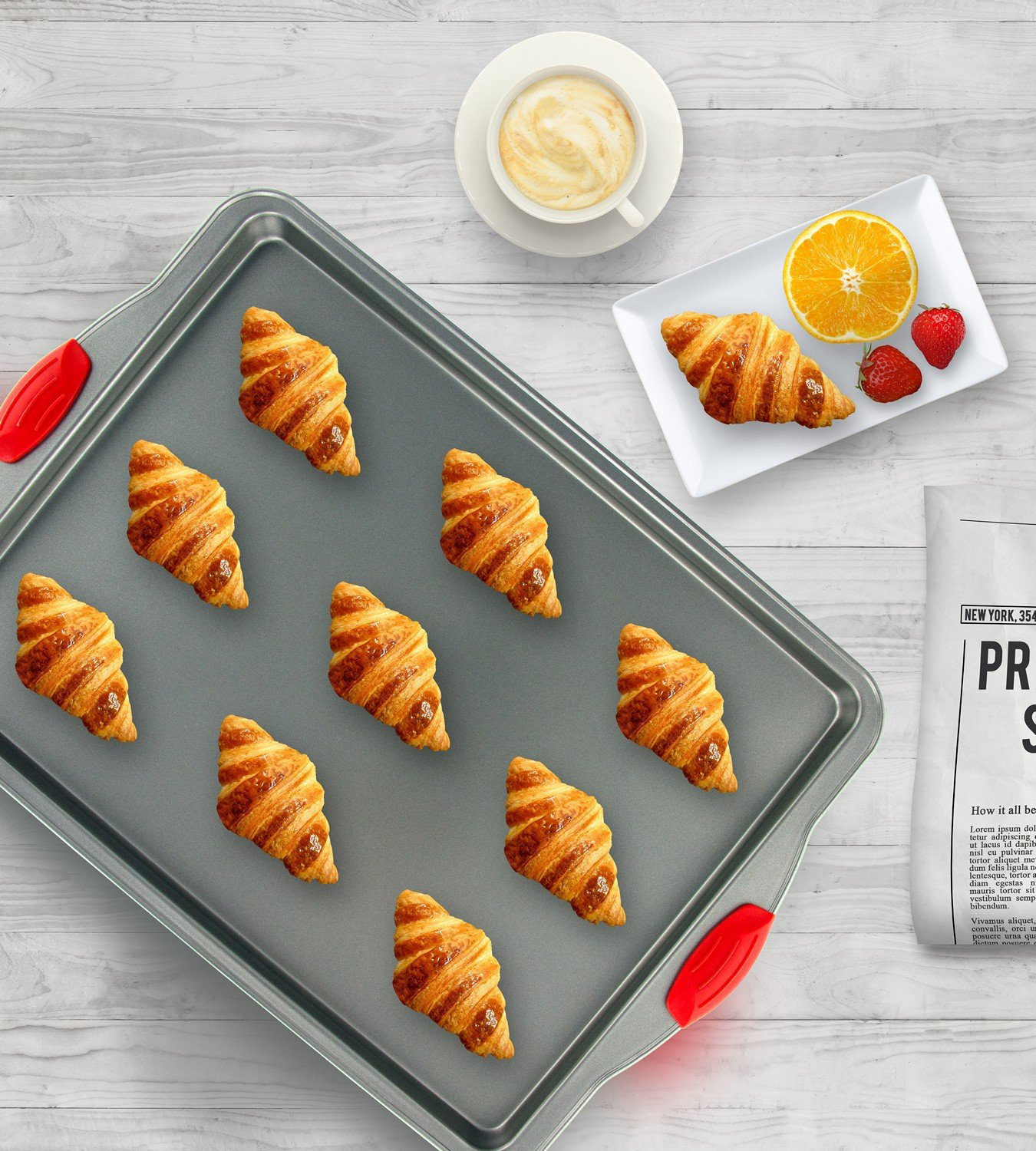Boxiki Kitchen Nonstick Baking Sheet Pan | 100% Non-Toxic Rimmed Stainless Steel Baking Sheet, No Chemicals or Aluminum | Dent, Warp & Rust Resistant Heavy Gauge Steel Oven Baking Sheet (1) by Boxiki Kitchen (Image #2)