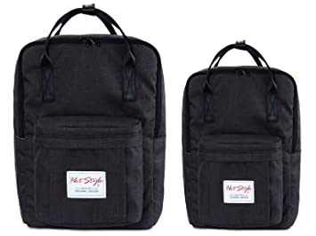 Amazon.com    HotStyle Basic Classic  Bestie Cute Diaper Bag Backpack for  Mom (Matching Bundles, Set of 2 Packs), Black   Baby 17e8b99905