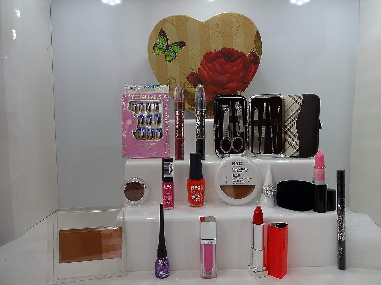Set de regalo de lujo para ella, mezclar marcas maquillaje, uñas, manicura, juego de herramientas en forma de corazón caja de regalo **Edición limitada** Oferta especial.063.